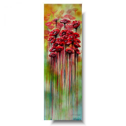 Obraz z kwiatami czerwone maki