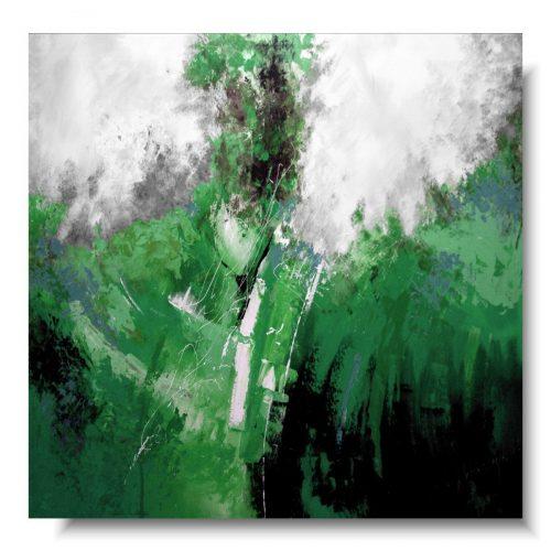 Duży zielony obraz butelkowa zieleń