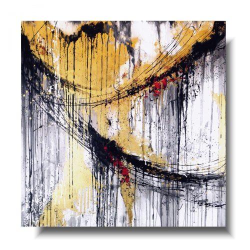 Piękny kwadratowy obraz złoty wir