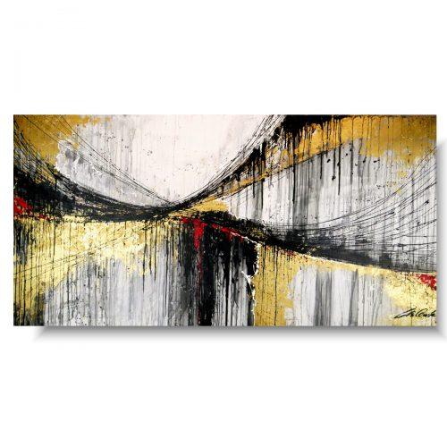 Piękny obraz abstrakcja złoty most