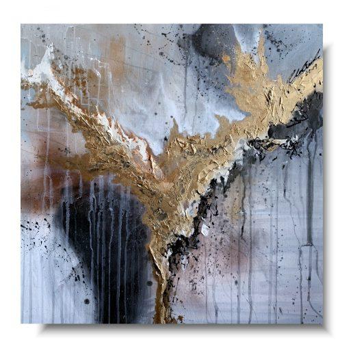 Premium elegancki obraz abstrakcja złoty anioł