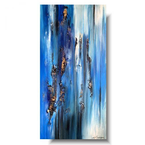 Sztuka współczesna obraz błogi błękit