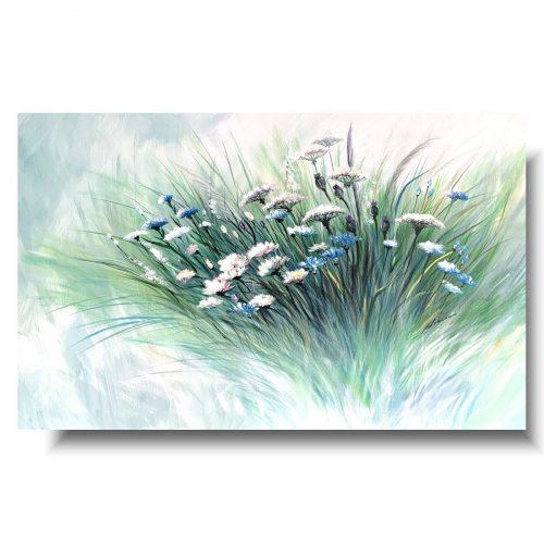Obrazy do salonu delikatna łąka kwiaty polskie