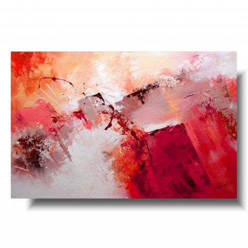Ogromna abstrakcja czerwony blask