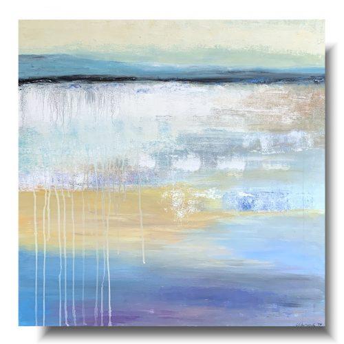 Premium delikatny obraz abstrakcja we mgle