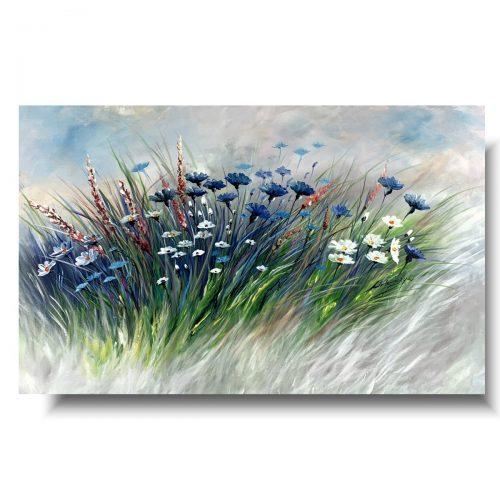 Obrazy do domu chabrowa łąka kwiaty polskie