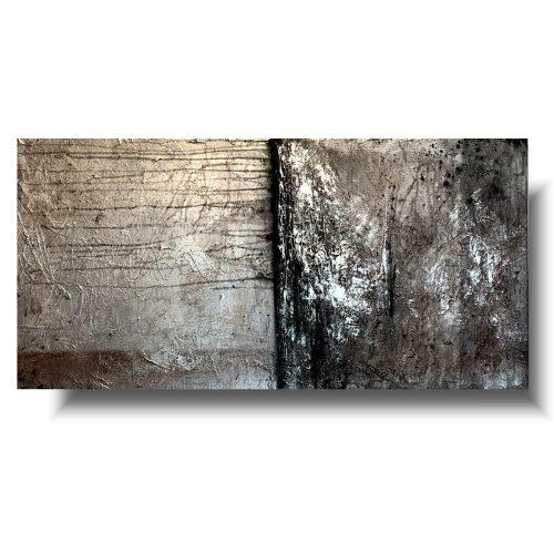 Nowoczesny obraz abstrakcja srebrny horyzont