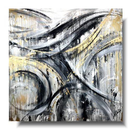 Obraz premium abstrakcja złoty wiatr