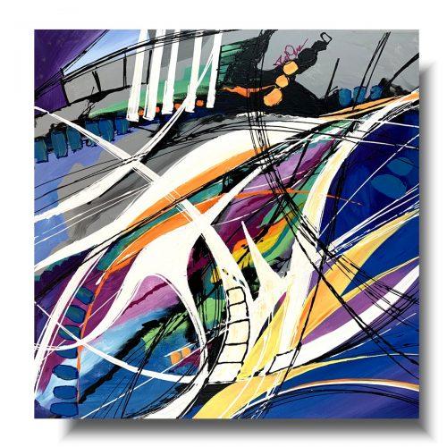 Sztuka nowoczesna obraz wir radości 1