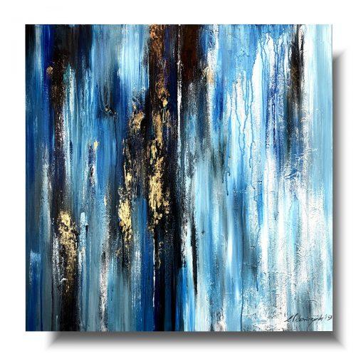 Sztuka współczesna obraz spokojny błękit