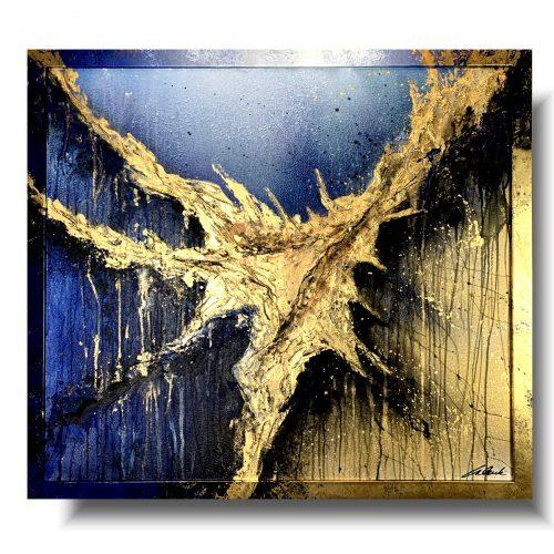 Nowoczesny obraz abstrakcja classic blue