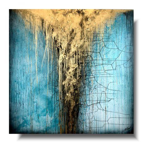Obraz premium turkusowy deszcz 1
