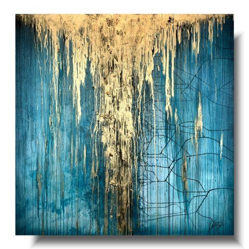 Obraz premium turkusowy deszcz