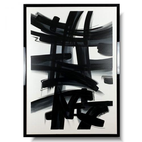 Czarno biały obraz w ramie abstrakcja wirus
