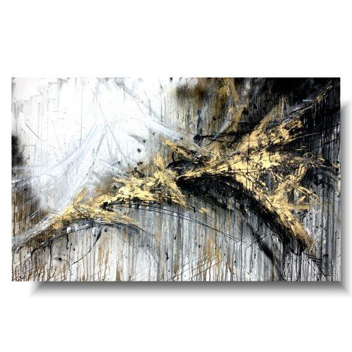 Duży obraz abstrakcja złote trofeum