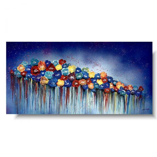 Kolorowy obraz z kwiatami barwna łąka