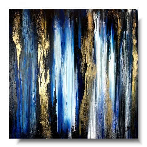 Nowoczesny obraz abstrakcja nocny las