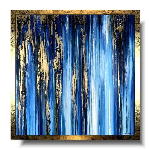 Nowoczesny obraz nocny las
