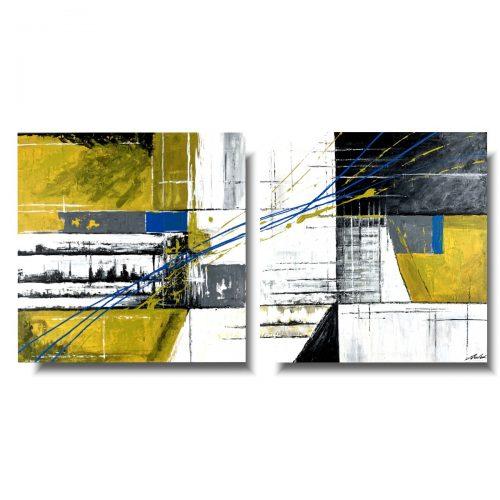 Obraz modna abstrakcja żółty piach
