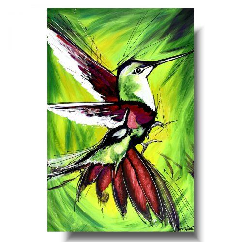 Obrazy do pokoju młodzieżowego egzotyczny koliber