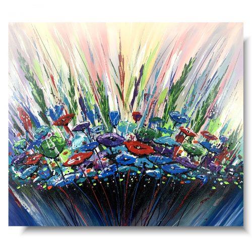 Obrazy do salonu kolorowa łąka