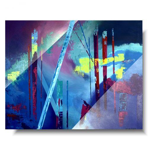 Obrazy na płótnie abstrakcja smog nad miastem