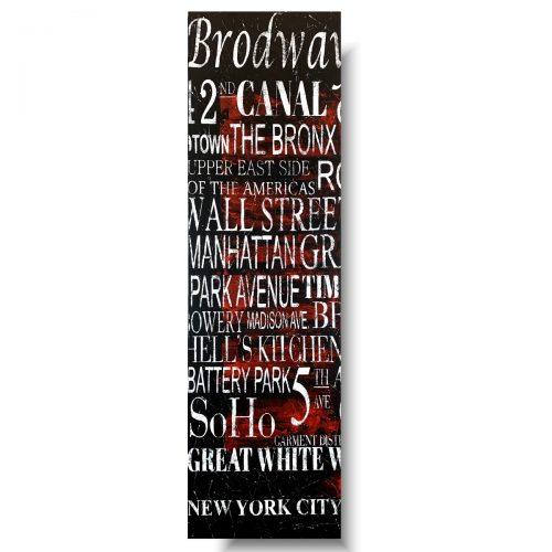 Pionowy obraz typografia Nowy Jork