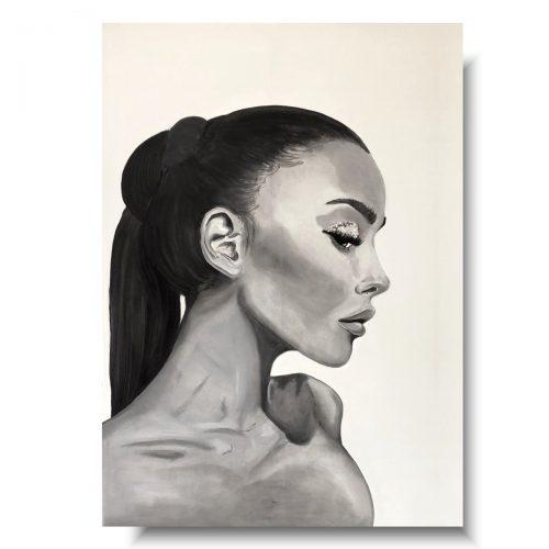 Nowoczesny portret czarno biały