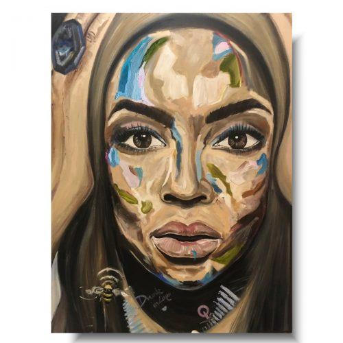 Nowoczesny portret kolorowa twarz