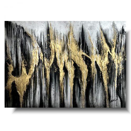Obraz abstrakcyjny złota korona