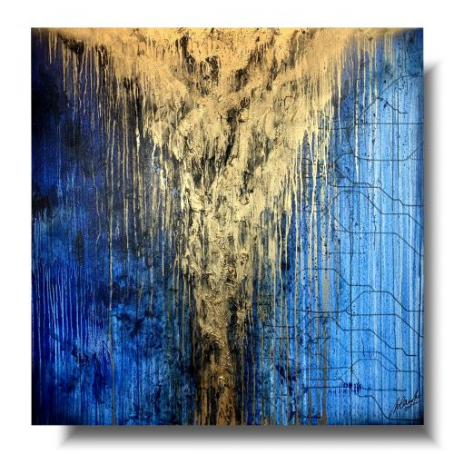 Obraz premium niebieski deszcz