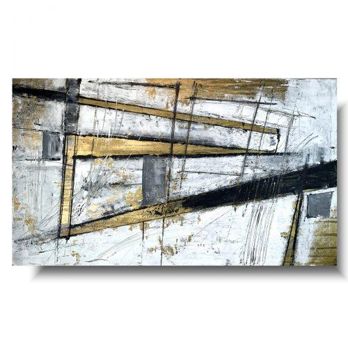 Abstrakcja obraz złote ostrze