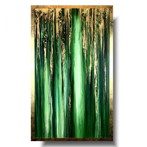 Nowoczesny obraz w ramie tropikalna zieleń