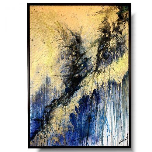 Elegancki obraz w ramie burza piaskowa