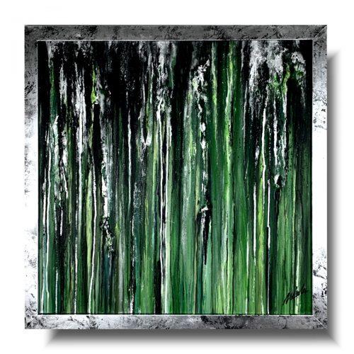 Nowoczesny obraz silver rain