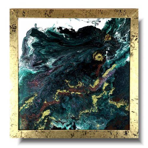 Obraz pouring szmaragdowe wybrzeże