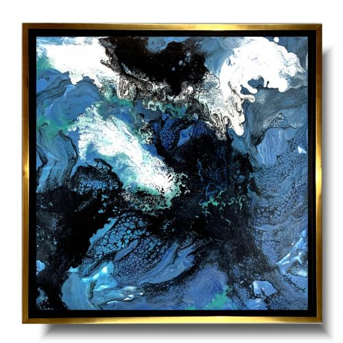 Obraz współczesny w ramie huragan