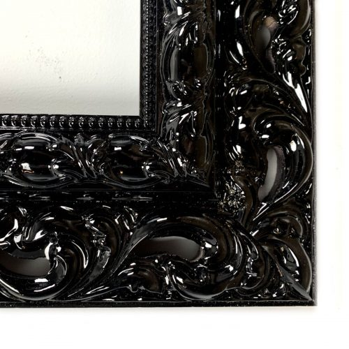 Ornament rama do obrazu czarna