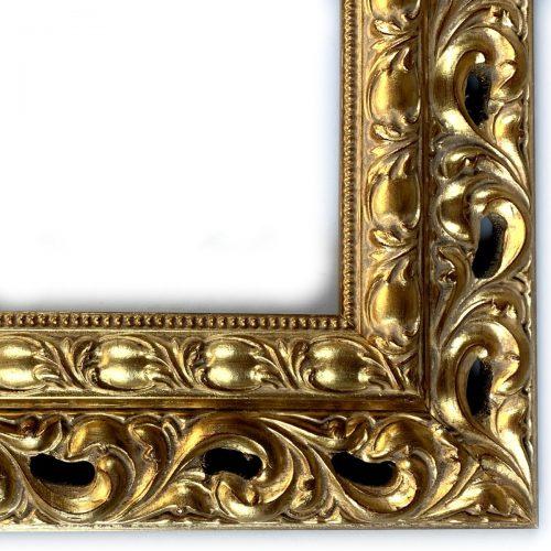 Ornament rama do obrazu złota szlagmetal