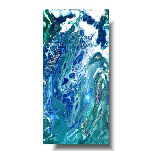 Obraz współczesny pouring fale oceanu