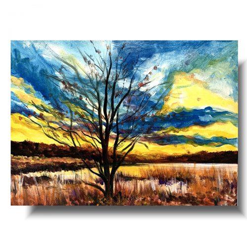 Obrazy pejzaże jesienny spacer