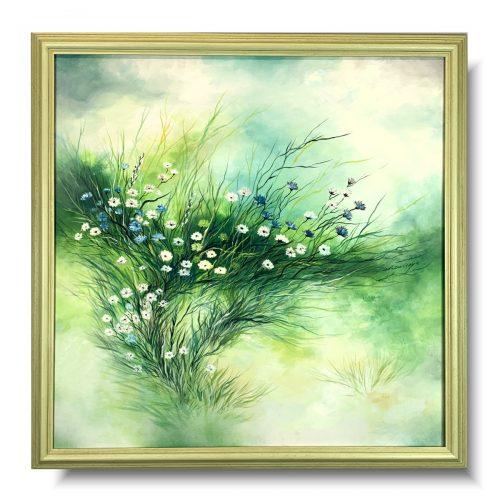 Obrazy z kwiatami delikatna łąka