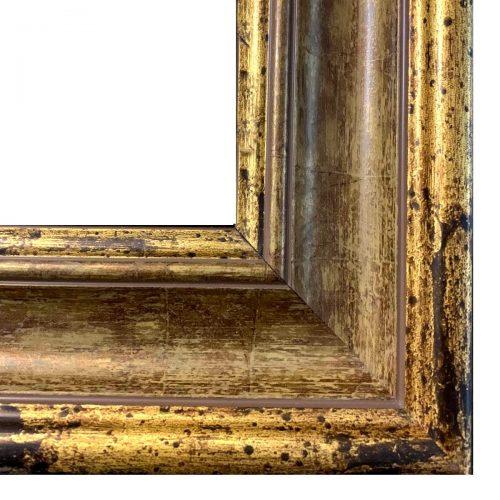 Złota klasyczna rama do obrazu z przetarciem