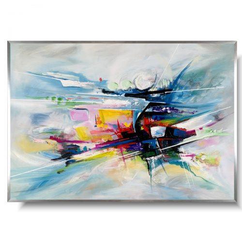 Obraz w ramie abstrakcja kolorowa supernowa