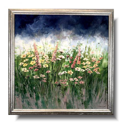 Obraz z kwiatami łąka