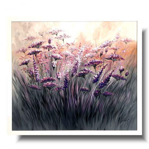 Obrazy w ramie pastelowa łąka