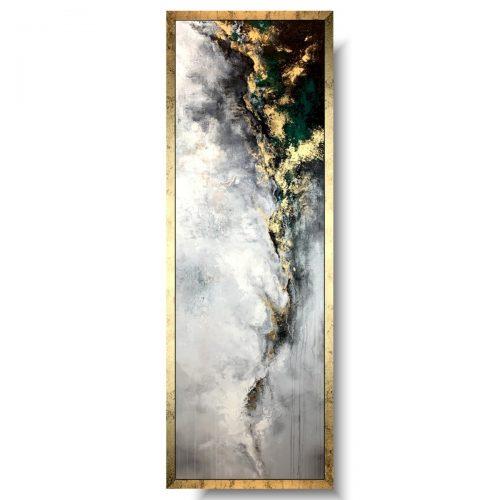 Modny pionowy obraz złote