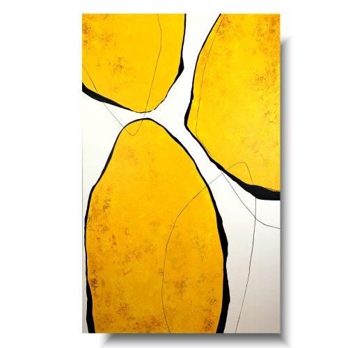Abstrakcja geometryczna YELLOW