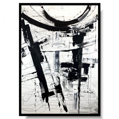 Obraz czarno biała otchłań