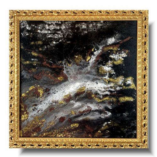 Pouring obraz w ramie żyła złota